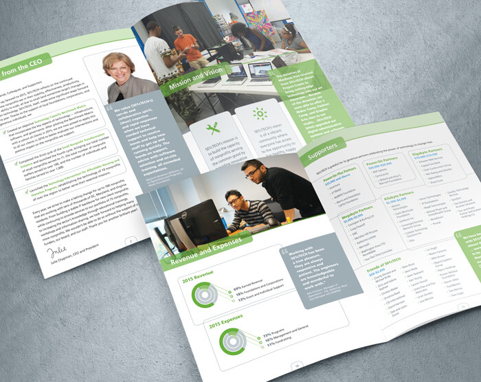 501cTech annual report design