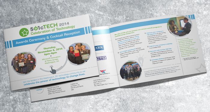 nonprofit awards event booklet design