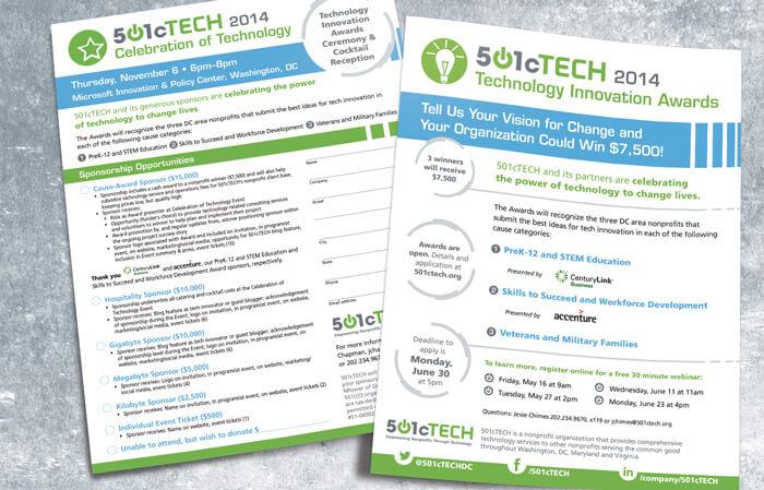 nonprofit awards event flyers design