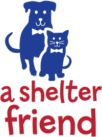 A Shelter Friend logo design vertical