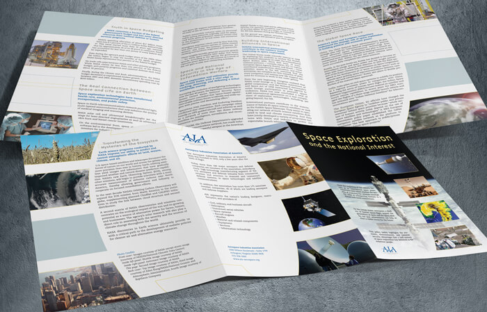 space exploration brochure