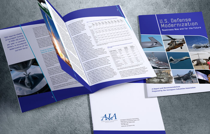 aerospace defense brochure design