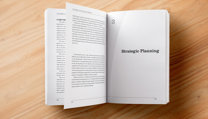 association book design and layout