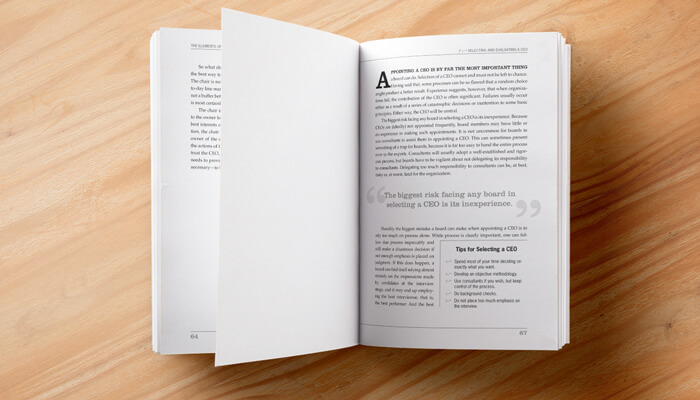 nonprofit book design and layout