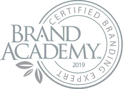 Brand Academy Certified Branding Expert seal.