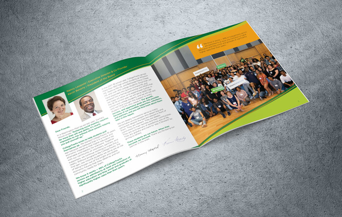 Annual report opening spread