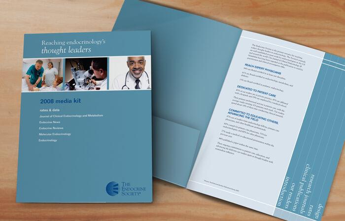 media kit folder design