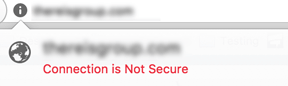 Firefox security warning: Connection is not secure