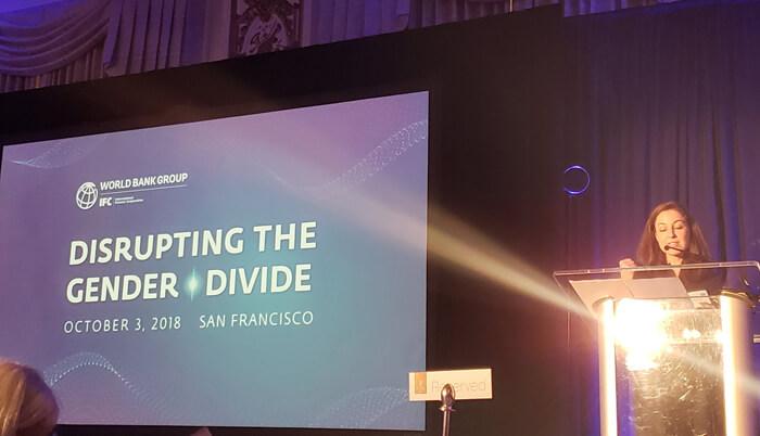 Conference backdrop slide