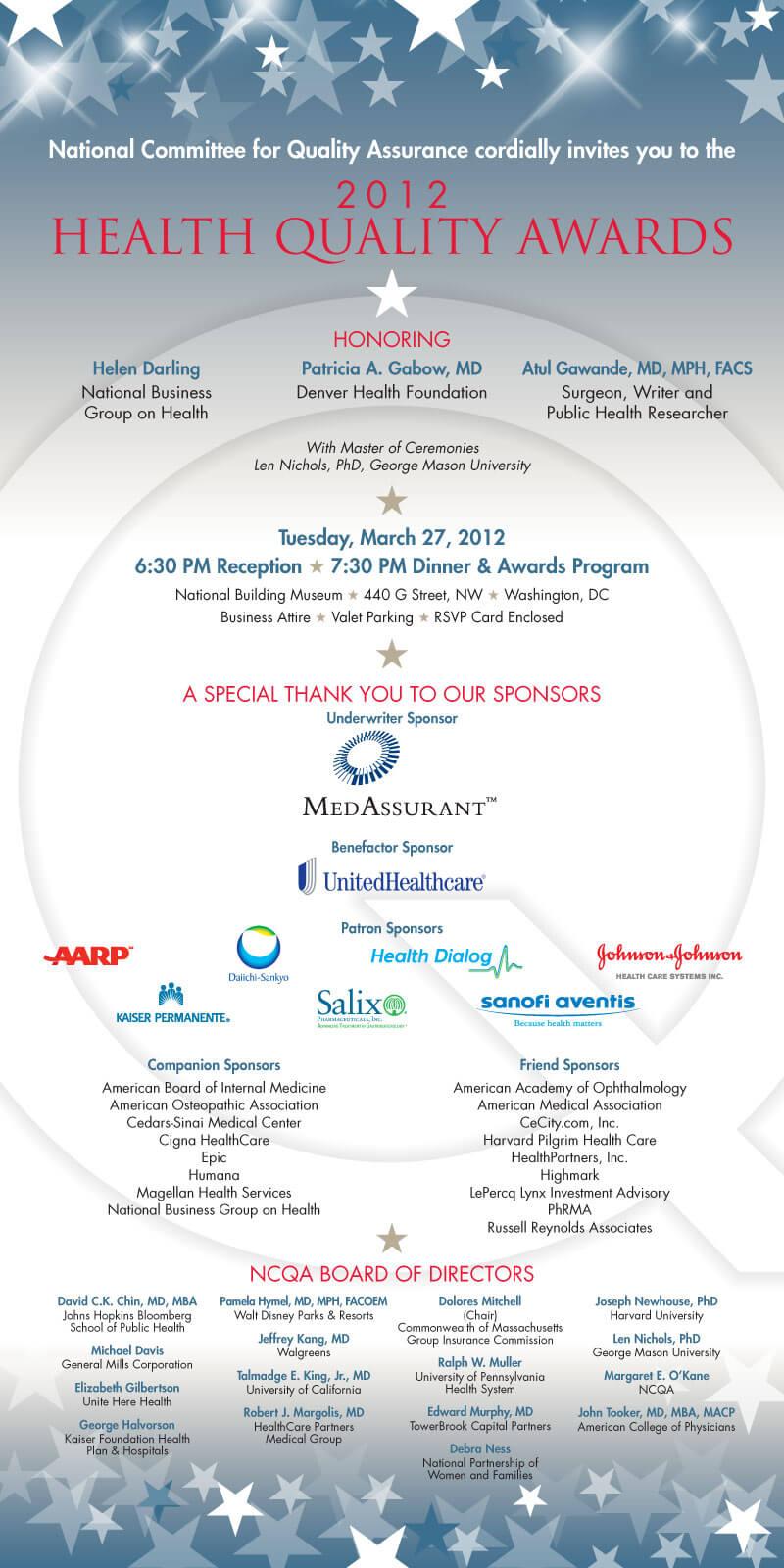Health Quality Awards 2012   Gratzer Graphics LLC