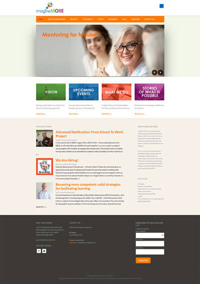Previous Home page design.
