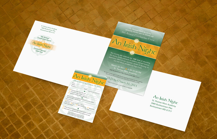 school fundraiser invitation package design