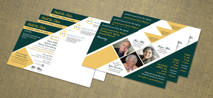nonprofit event postcard design