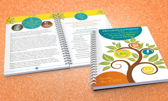 award dinner program book design
