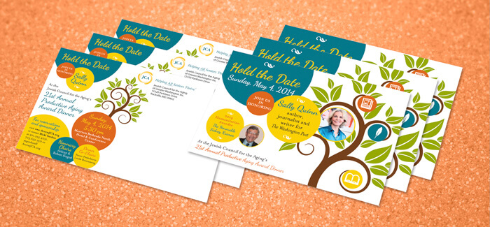 nonprofit dinner event postcard design