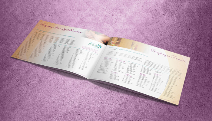 nonprofit annual report design spread