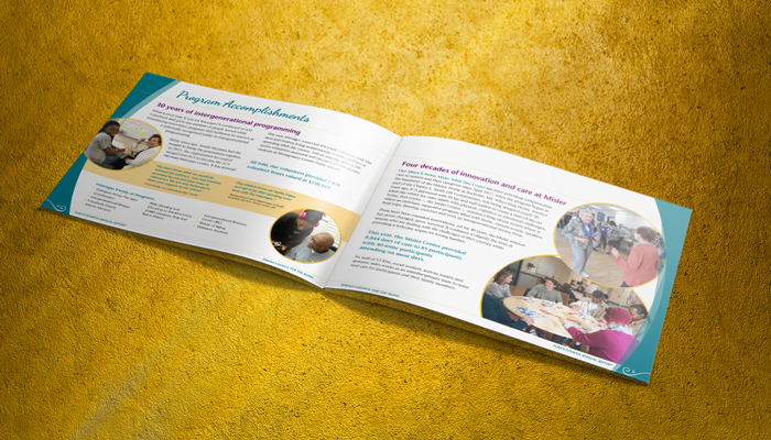 annual report spread design