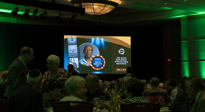 Presentation slides at event