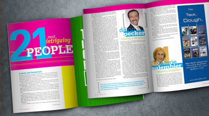 min magazine design and layout