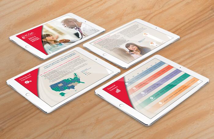 health care annual report design