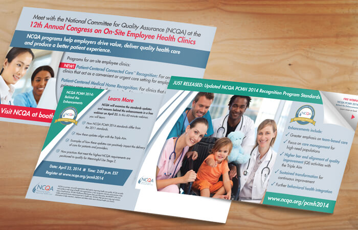 healthcare postcard design