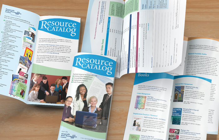 nonprofit brochure catalog design