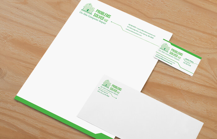 problems solved stationery package small business identity package