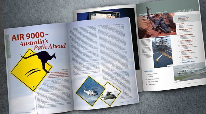 Rotor & Wing magazine layout